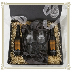 Gift box with bottles and...
